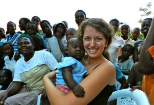Junior Michaela Manley spending time with the locals during her trip to Uganda and Rwanda this past CentreTerm. Students who participated on the trip are responsible for organizing the event.