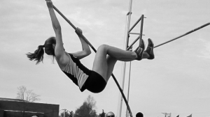 "When competing in track and field meets, Paolini has to focus on distributing her body weight in just the right way in order to clear the four-meter-high bar. She also pays attention to little ""superstitions,"" such as wearing her hair in just the right way, before vaulting."