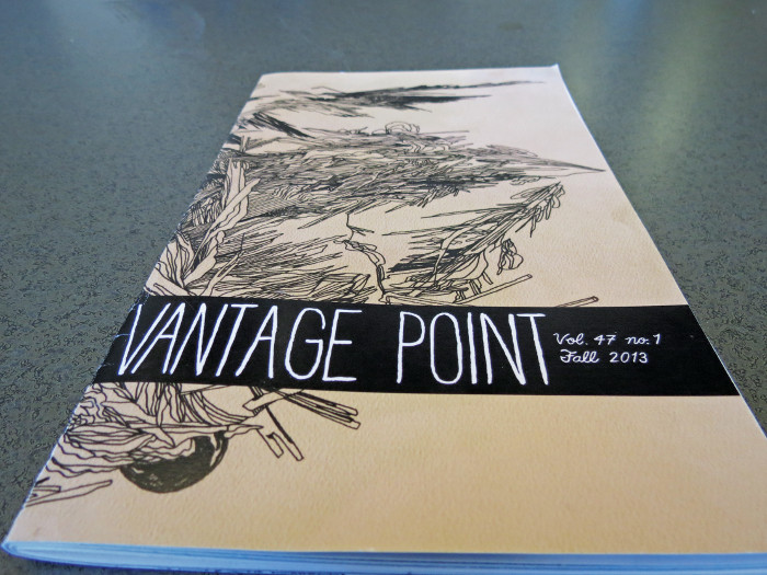 The fall 2013 Issue of Vantage Point included illustrations from Lesley College. This issue hopes to use illustrations done by Centre artists