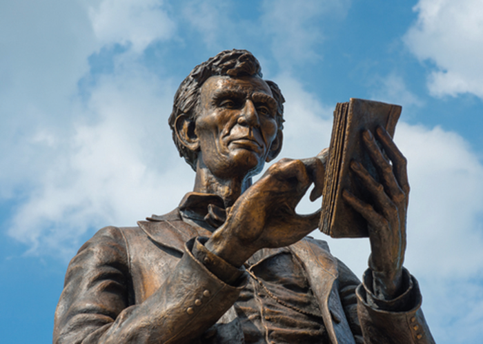The Lincoln Scholars Program follows in a trend of tributes to Abraham Lincoln, such as the statue in front of Crounse Hall.