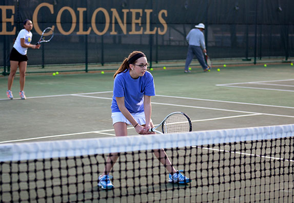 Women's Tennis Fights Through Middle of Conference Schedule