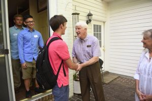 The Class of 2019 enjoyed an evening with President and First Lady Roush during the annual President's Picnic at the Craik House on August 27, 2015.