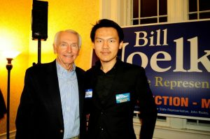 Volur Zhang with Kentucky Governor Steve Beshear. (Photo Submitted)