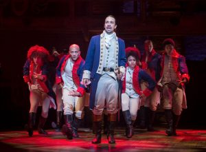 Lin-Manuel Miranda and the cast of 'Hamilton' (Sara Krulwich/The New York Times)
