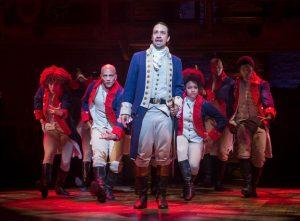 Lin-Manuel Miranda and the cast of 'Hamilton' (Sara Krulwich/The New York Times)