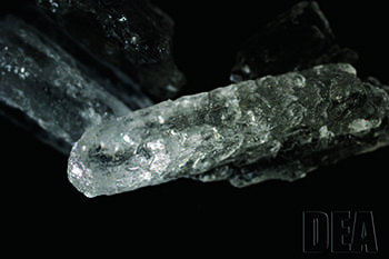 """The """"crystal meth"""" form of methamphetamine is a colorless crystalline solid and can be injected, snorted, or smoked."""