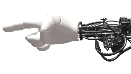 Artificial skin, developed by researchers at the University of Houston, allows a robot hand to distinguish between hot and cold temperatures. The image above is a simulated robotic hand. (Image Source: Pixabay)