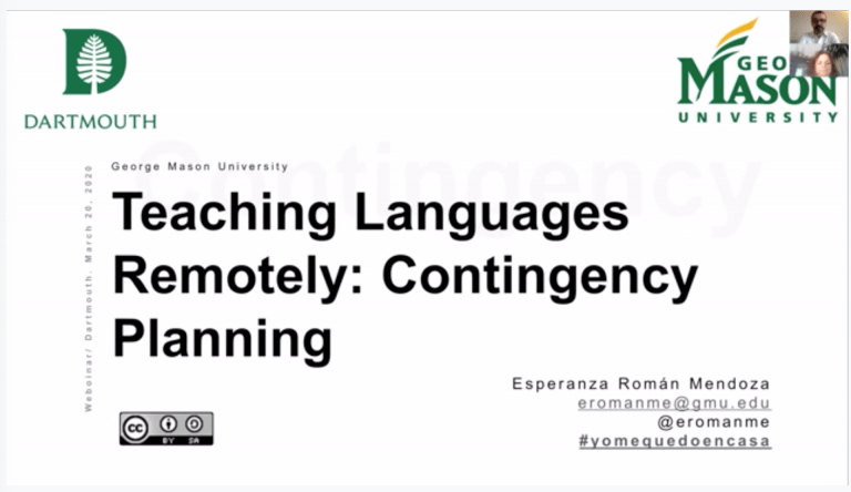 🔖 Webinar – Teaching Languages Remotely: Contingency Planning