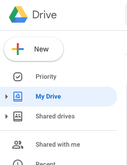 "2. When you access your Google Drive, click on ""Shared drives"" from your quick launch menu."