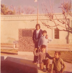 Pedro and his cousins in Sonora Mex.