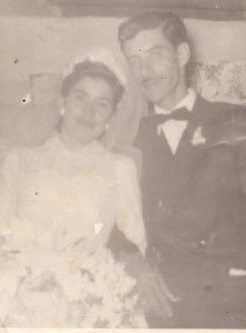Pedro's mom and dad on their wedding day.