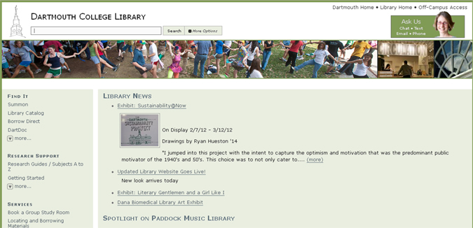 New Library Website Design