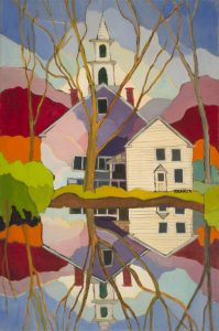 Newfane Church Painting by Georgie Runckle