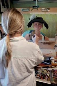 Susan Parmenter in the Studio