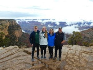 Chris and his family at the grand canyon.
