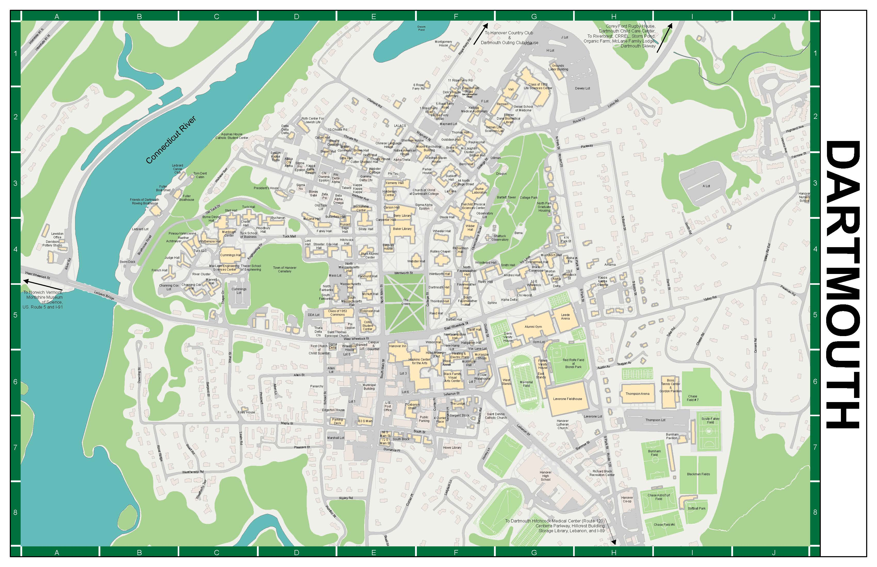 Map Of Dartmouth | Park Map