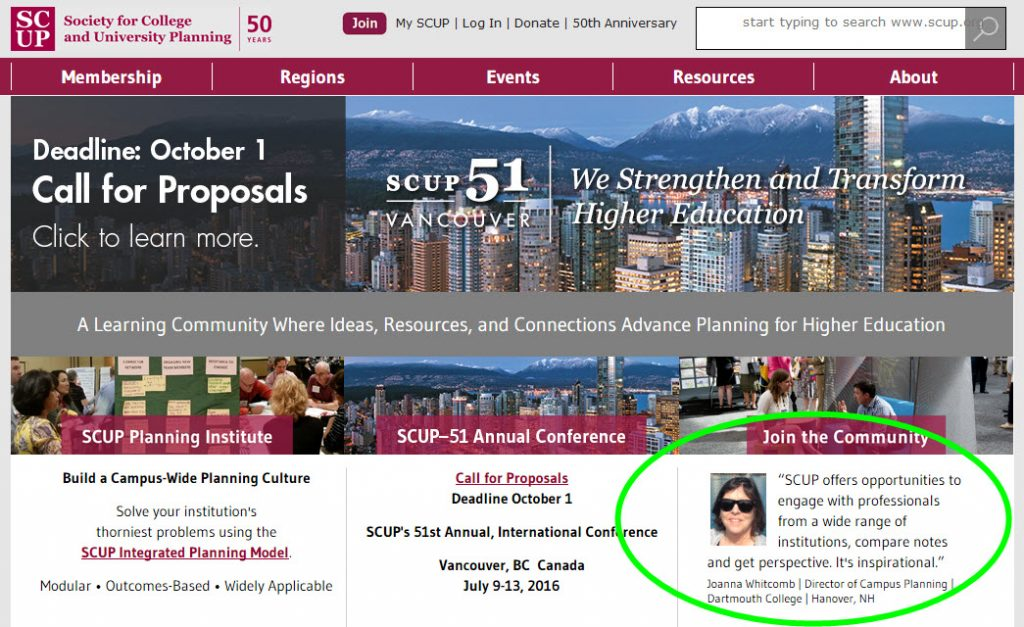 SCUP home page