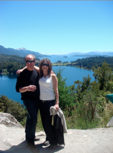 Sebastian and his wife in Bariloche, Argentina