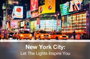 New York City under the Lights