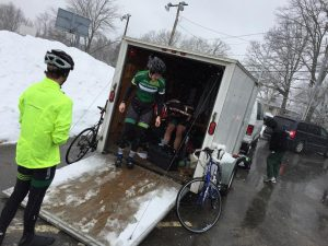 It was a snowy race on Easter, hosted by MIT