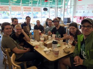 Celebrating a successful weekend at West Point the correct way - at Five Guys