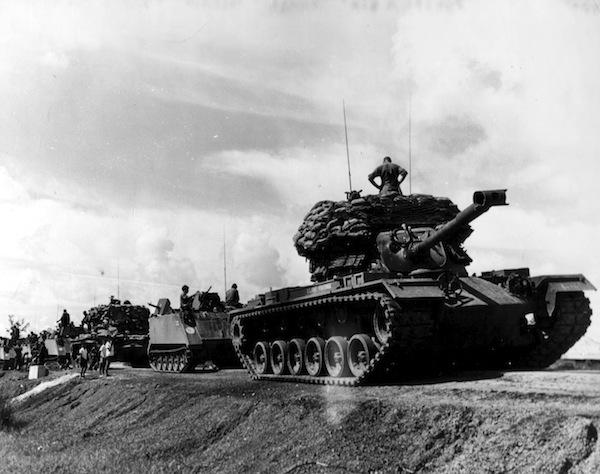 U.S. convoy in Vietnam.