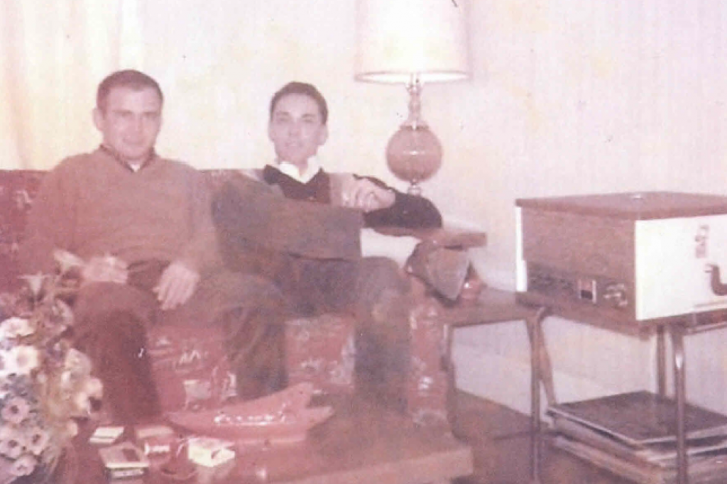 First apartment with his Cuban brother Ivo