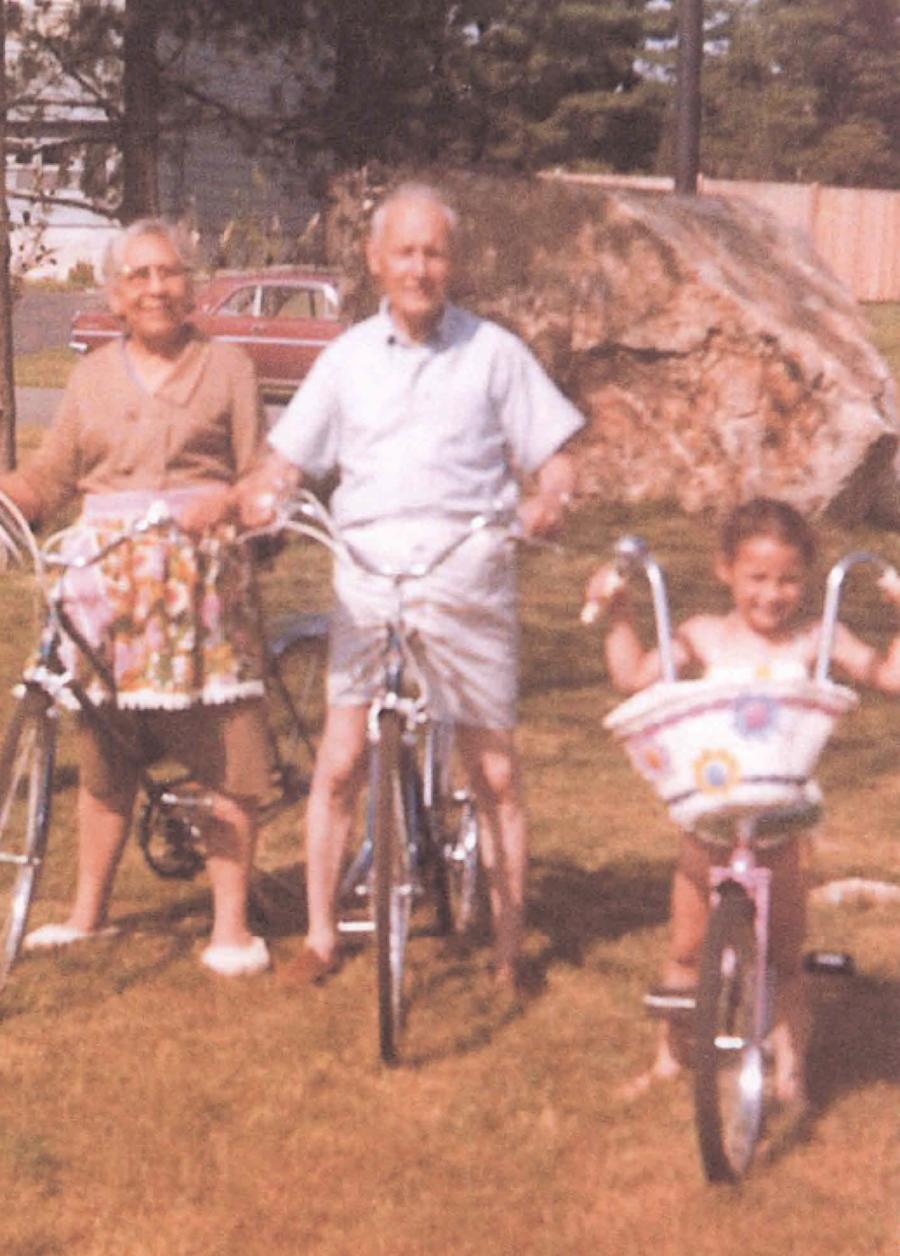 Orlando's paternal grandparents Jose and Natividad with his daughter Jolin.