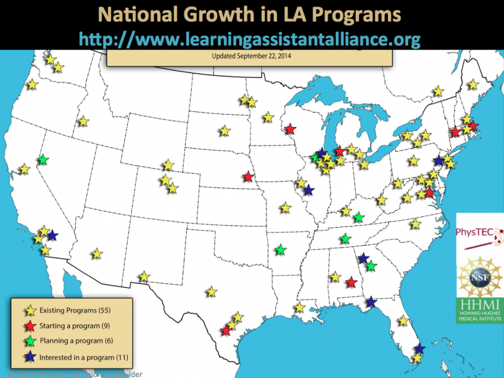 A map showing the pipeline of LA programs at various institutions.