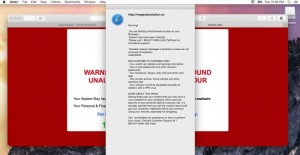 A screenshot of a Mac malware example from How-To Geek.