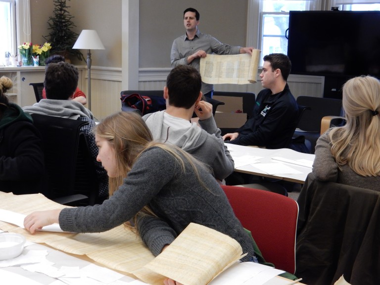 Students Construct Ancient Scrolls in CLST 10