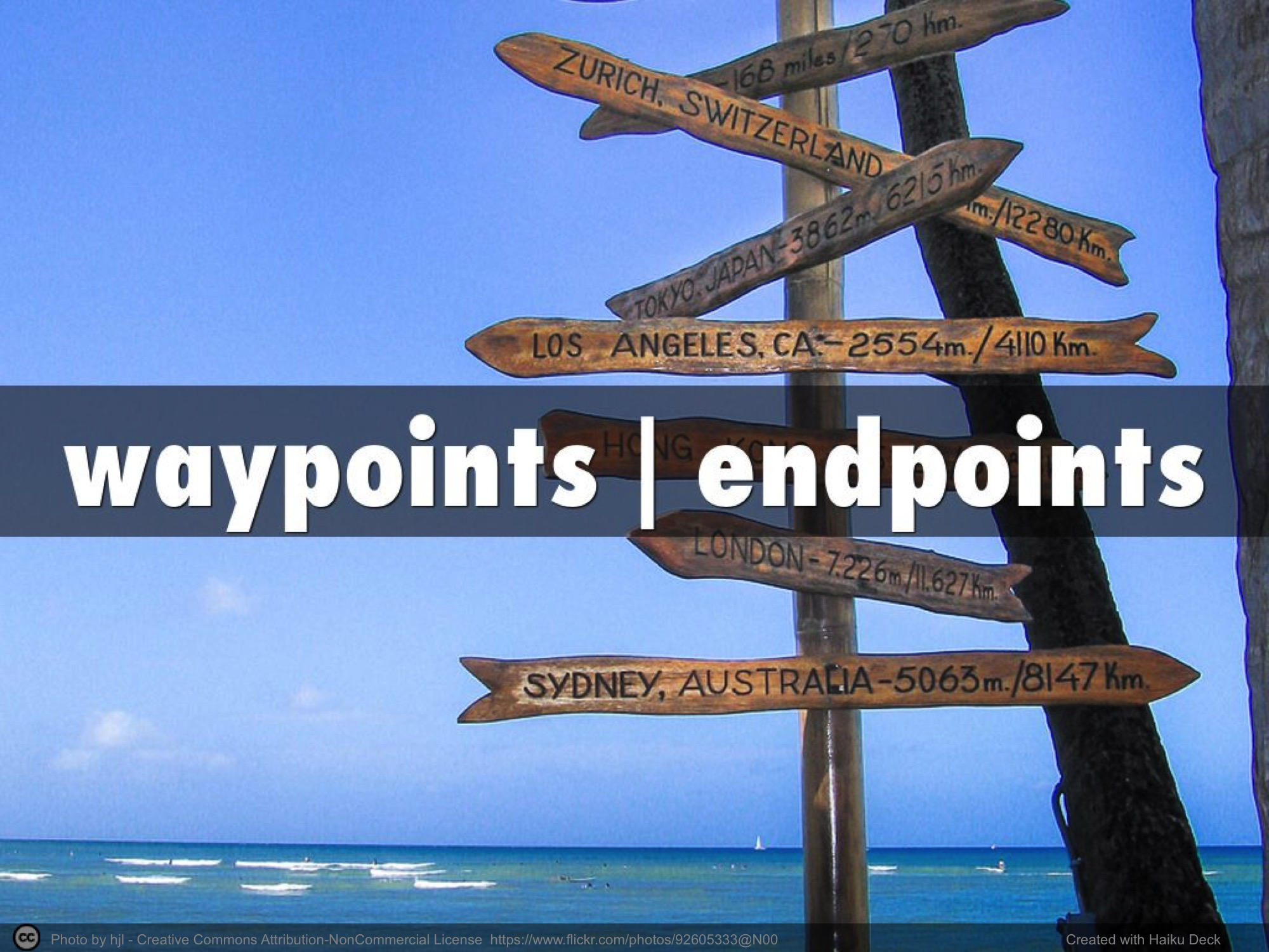 waypoints | endpoints