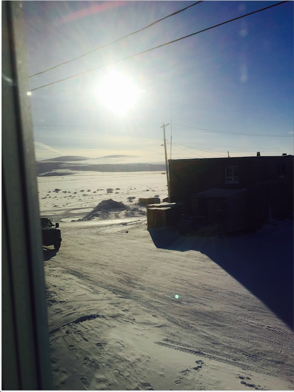The view outside my window in Clyde River.