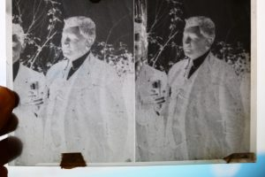 A negative viewed on the lightbox
