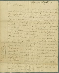 Image of Wheelock's August 15th Letter to Occom