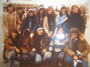 Trip to Bariloche, Argentina in 1978, Alejandra's (back row farthest left) last year of high school
