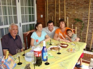 Alejandra with her parents, her cousin Diego, and his son Alejo Rosario Argentina: Summer 2010