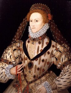 The Queen c. 1580. Elizabeth was reputed to have owned over 3,000 dresses by the end of her life.