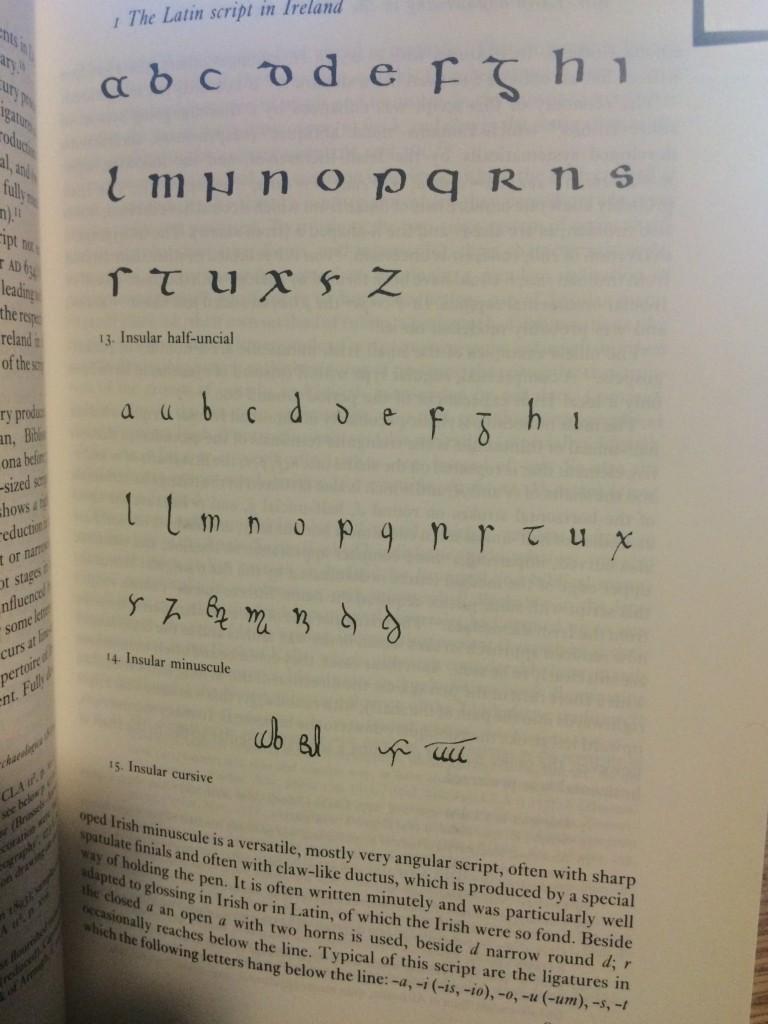 Insular script from Ireland. Bischoff p.85
