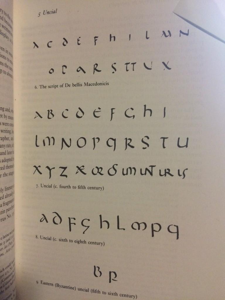 Uncial scripts. Bischoff p.67