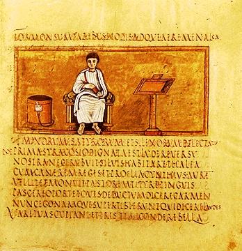 Rustic Capitals from the Vergilius Vaticanus. Photo: Wikipedia.
