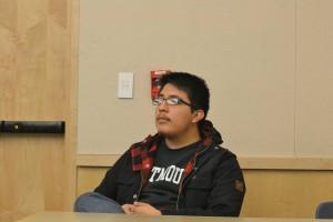 Eduardo sitting down