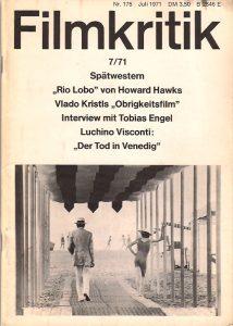 Filmkritik July 1971 Magazine Cover