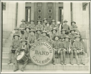 A 1917 photograph of the Dartmouth College Regimental Band