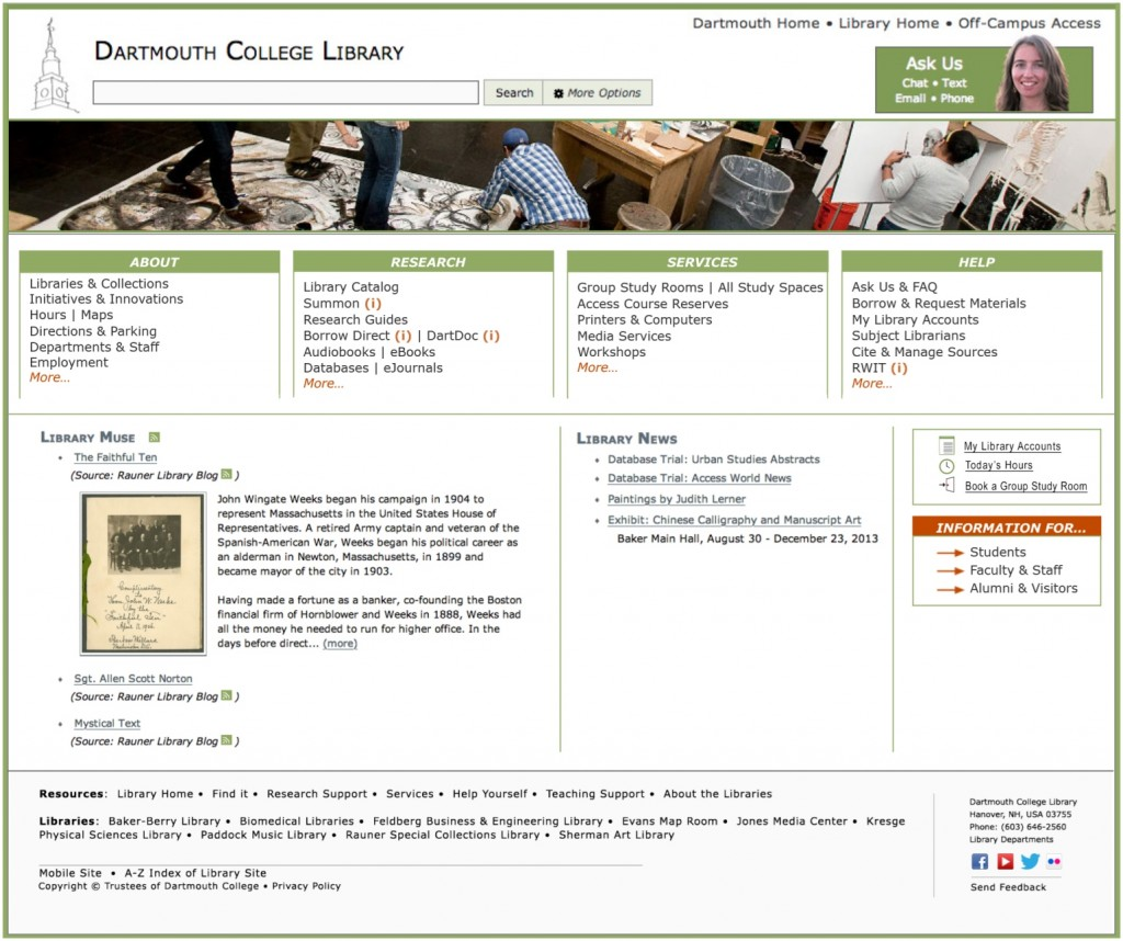 New Library Home Page