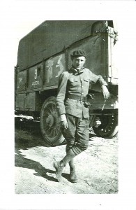 "Chipman 1919. Ammunition truck driver with American Field Service--French Army on ""Chemin Des Dames,"" June 1917."