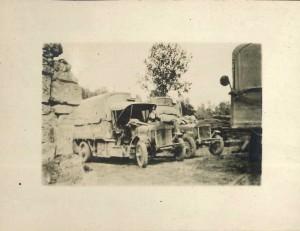 Supplies & materials at ammunition dumps. Bazoches, Chemin des Dames 1917