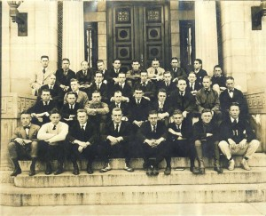 Dartmouth Ambulance Units III & IV, May 1917 (on the steps of Webster Hall)