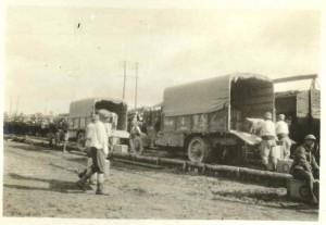 Supplies and materials at ammunition dumps. Bazoches, Chemin des Dames 1917