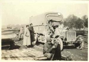 Loading war materials at loading depots